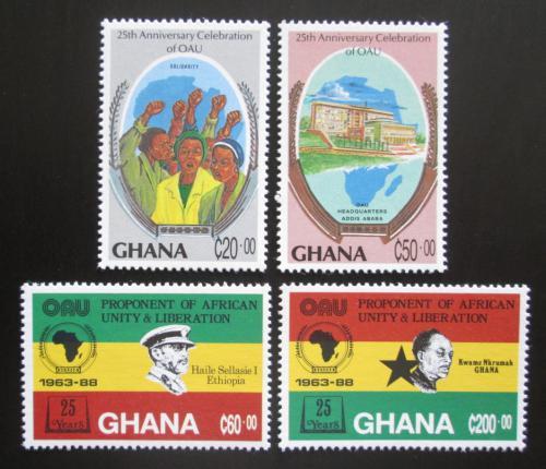 Poštovní známky Ghana 1989 Africká jednota Mi# 1221-24