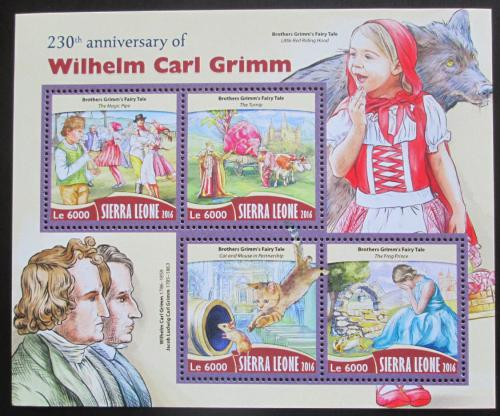 Poštovní známky Sierra Leone 2016 Pohádky bratøí Grimmù Mi# 7423-26 Kat 11€