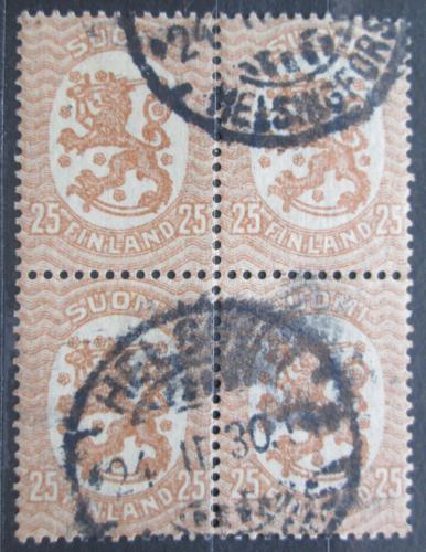 Poštovní známky Finsko 1919 Státní znak ètyøblok Mi# 77 A