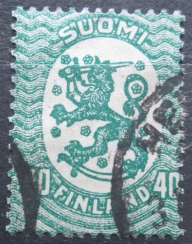 Poštovní známka Finsko 1929 Státní znak Mi# 80 AII
