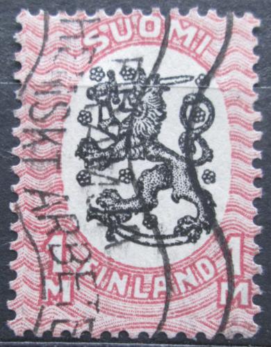 Poštovní známka Finsko 1917 Státní znak Mi# 86 A