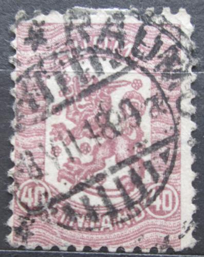 Poštovní známka Finsko 1918 Státní znak Mi# 98