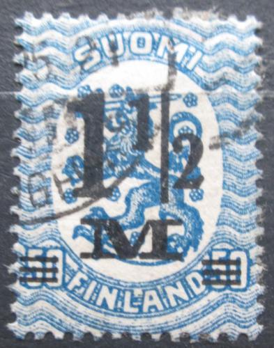 Poštovní známka Finsko 1921 Státní znak pøetisk Mi# 110 II Kat 6€
