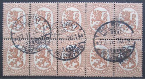 Poštovní známky Finsko 1924 Státní znak desetiblok Mi# 75 A