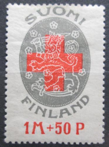 Poštovní známka Finsko 1922 Èervený køíž Mi# 111