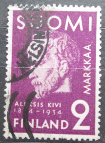 Poštovní známka Finsko 1934 Aleksis Kivi, básník Mi# 187