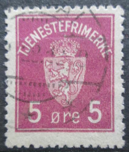 Poštovní známka Norsko 1929 Státní znak, doplatní Mi# 1 b
