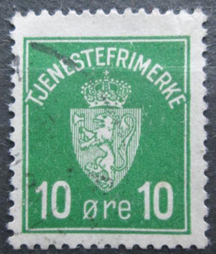 Poštovní známka Norsko 1926 Státní znak, doplatní Mi# 2