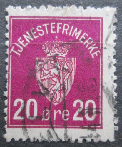 Poštovní známka Norsko 1926 Státní znak, doplatní Mi# 4