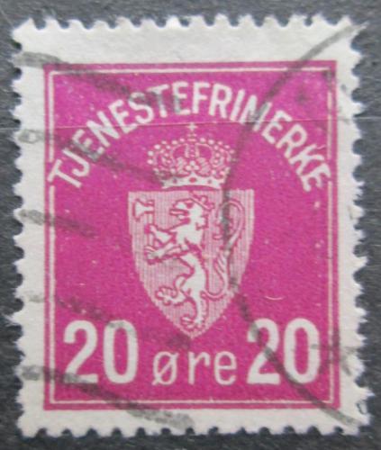 Poštovní známka Norsko 1926 Státní znak, úøední Mi# 4