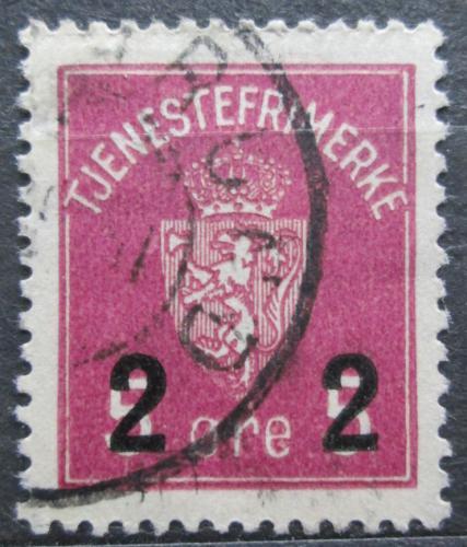 Poštovní známka Norsko 1929 Státní znak, úøední pøetisk Mi# 8 b