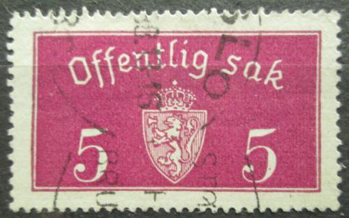 Poštovní známka Norsko 1933 Státní znak, úøední Mi# 10 I