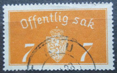 Poštovní známka Norsko 1933 Státní znak, úøední Mi# 11 I Kat 5€