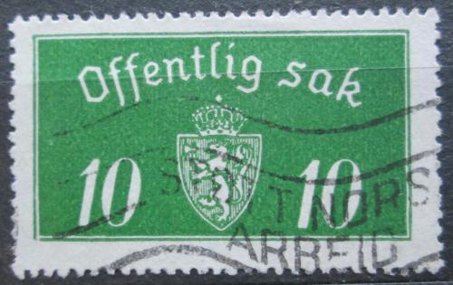 Poštovní známka Norsko 1933 Státní znak, úøední Mi# 12 I