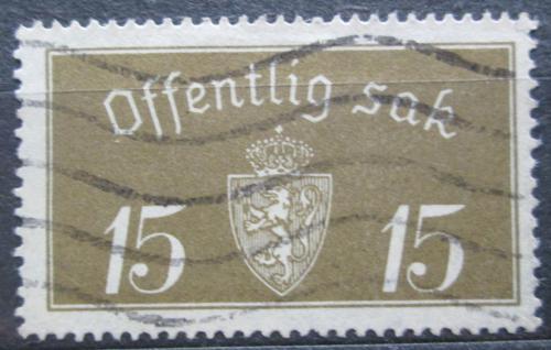 Poštovní známka Norsko 1933 Státní znak, úøední Mi# 13 I