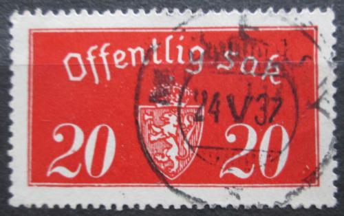 Poštovní známka Norsko 1933 Státní znak, úøední Mi# 14 I