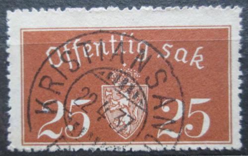 Poštovní známka Norsko 1933 Státní znak, úøední Mi# 15 I