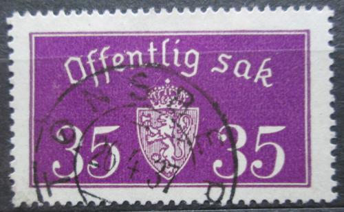 Poštovní známka Norsko 1935 Státní znak, úøední Mi# 17 II