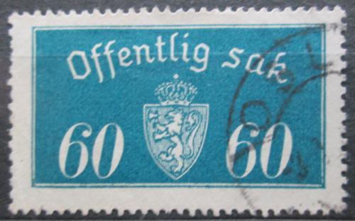 Poštovní známka Norsko 1935 Státní znak, úøední Mi# 19 II