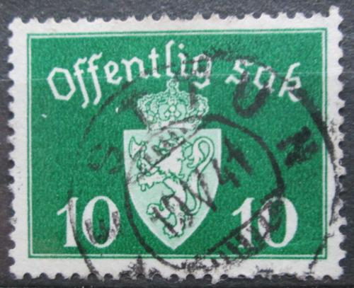 Poštovní známka Norsko 1937 Státní znak, úøední Mi# 24
