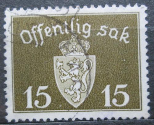 Poštovní známka Norsko 1937 Státní znak, úøední Mi# 25 a