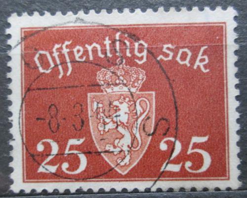 Poštovní známka Norsko 1938 Státní znak, úøední Mi# 27