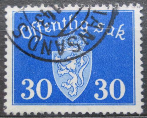 Poštovní známka Norsko 1937 Státní znak, úøední Mi# 28