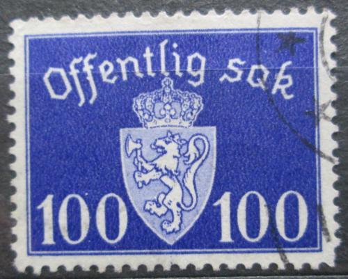 Poštovní známka Norsko 1938 Státní znak, úøední Mi# 32