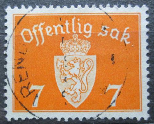Poštovní známka Norsko 1941 Státní znak, úøední Mi# 34