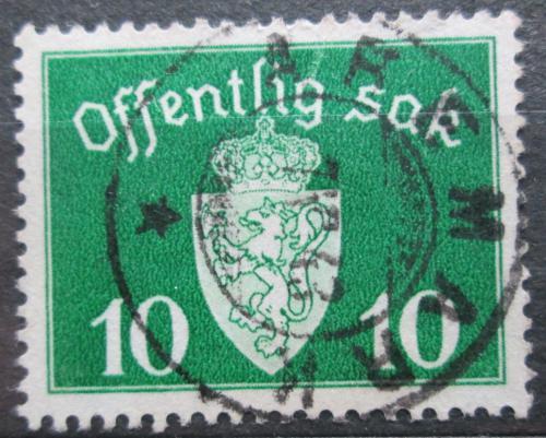 Poštovní známka Norsko 1941 Státní znak, úøední Mi# 35