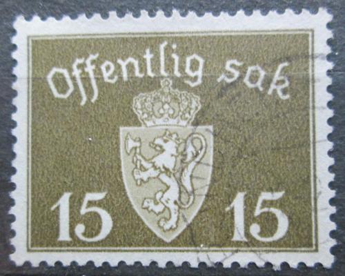 Poštovní známka Norsko 1945 Státní znak, úøední Mi# 36