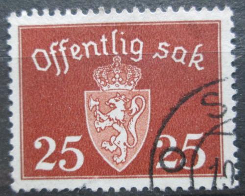 Poštovní známka Norsko 1945 Státní znak, úøední Mi# 38 Kat 6€