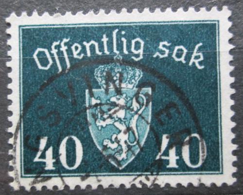 Poštovní známka Norsko 1941 Státní znak, úøední Mi# 41