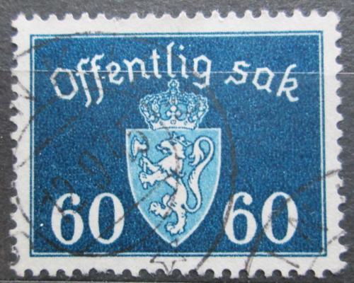 Poštovní známka Norsko 1941 Státní znak, úøední Mi# 42