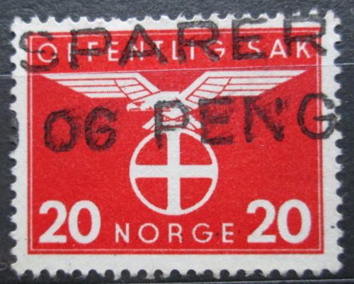 Poštovní známka Norsko 1942 Sluneèní køíž, úøední Mi# 48