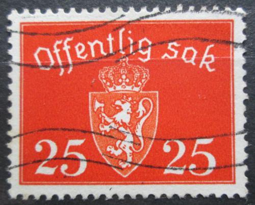 Poštovní známka Norsko 1946 Státní znak, úøední Mi# 55