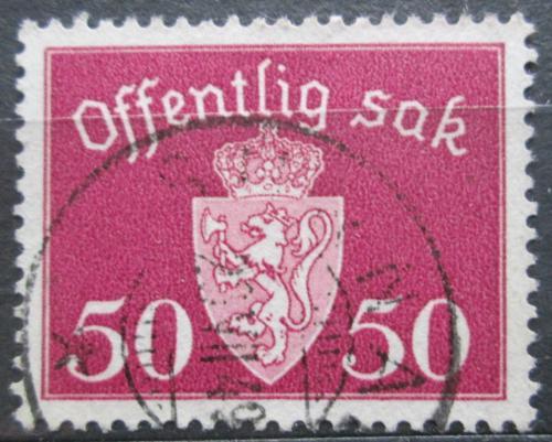 Poštovní známka Norsko 1947 Státní znak, úøední Mi# 58