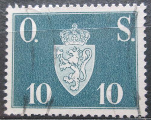 Poštovní známka Norsko 1951 Státní znak, úøední Mi# 62