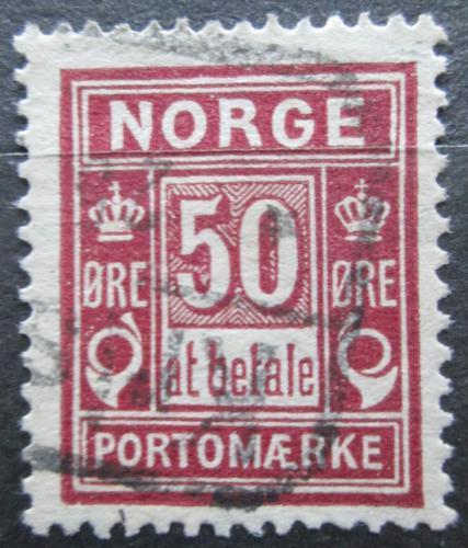 Poštovní známka Norsko 1898 Doplatní Mi# 6 IA