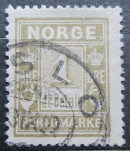Poštovní známka Norsko 1914 Doplatní Mi# 1 IIA