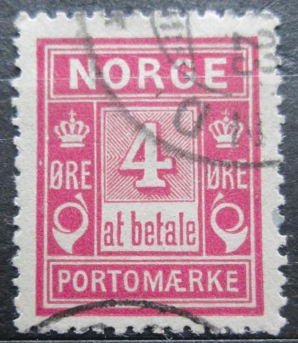 Poštovní známka Norsko 1912 Doplatní Mi# 2 II Ac