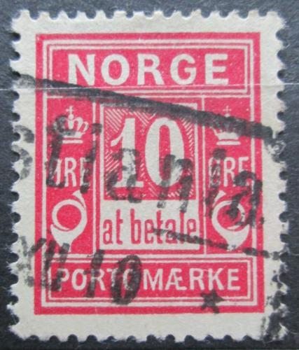 Poštovní známka Norsko 1899 Doplatní Mi# 3 II A