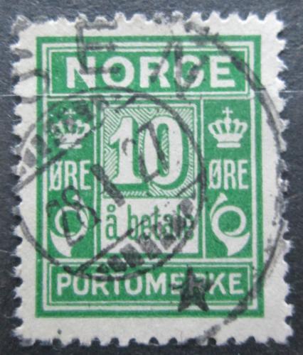 Poštovní známka Norsko 1922 Doplatní Mi# 8