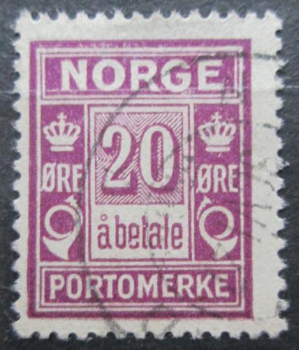 Poštovní známka Norsko 1923 Doplatní Mi# 9