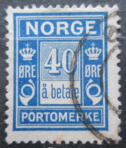 Poštovní známka Norsko 1921 Doplatní Mi# 10 a