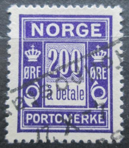 Poštovní známka Norsko 1922 Doplatní Mi# 12 Kat 22€