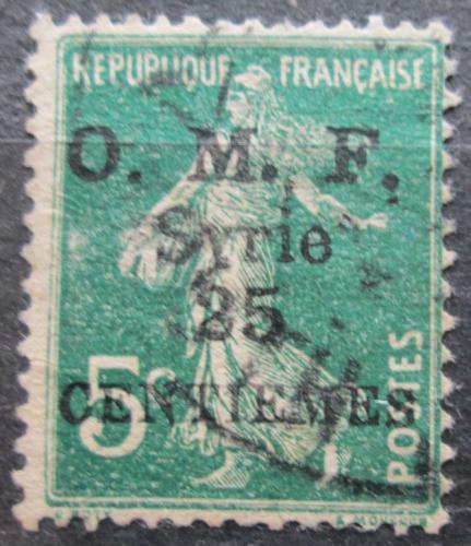 Poštovní známka Sýrie 1921 Koloniální alegorie pøetisk Mi# 153