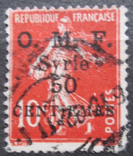 Poštovní známka Sýrie 1921 Koloniální alegorie pøetisk Mi# 154