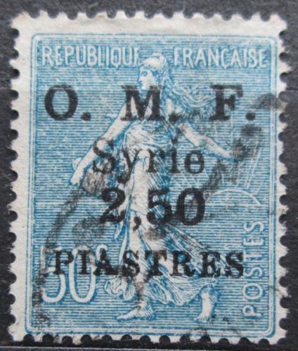 Poštovní známka Sýrie 1922 Koloniální alegorie pøetisk Mi# 184