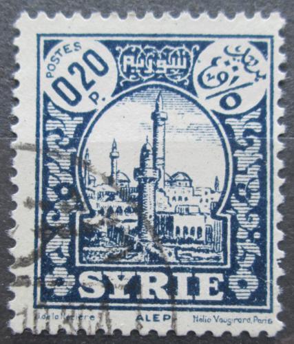 Poštovní známka Sýrie 1935 Minaret mešity v Aleppu Mi# 335